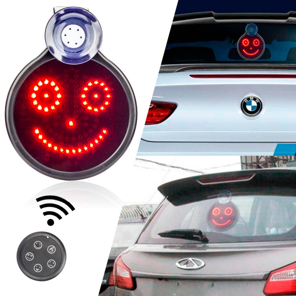 Auto led display con smiley